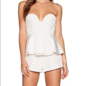 Finders Keepers Revelation Bustier Playsuit
